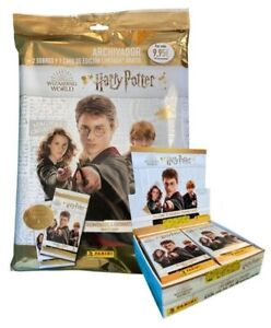 "STARTER PACK + CAJA 24 SOBRES  TRADING CARDS HARRY POTTER ""Welcome to Hogwarts """