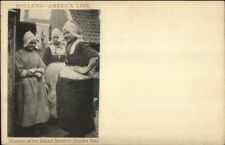Steamship Holland Amerika America Line Women Isle of Marken c1905 PC