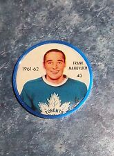 Shirriff / Salada coins hockey 1961-62 # 43 Frank Mahovlich  Toronto  lot M