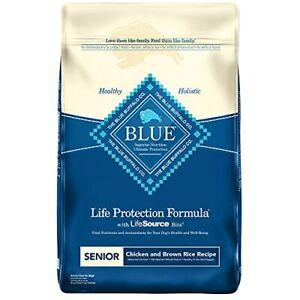 Blue Buffalo Life Protection Formula Natural Senior Dry Dog Food Chicken and ...