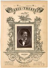 Lemercier, Paris-Théâtre, Dieudonné, acteur Vintage albumen Print Tirage album