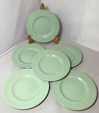Six Vintage 40's 50's Woods Ware 'Beryl' Small Tea Sandwich 17cm Plates Utility