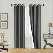 INSULATED FOAM LINED THERMAL BLACKOUT GROMMET WINDOW CURTAIN 1PC CHARCOAL GREY