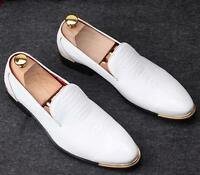 Fashion Mens Wedding Slip On Pointy Toe Casual Dress formal loafer Shoes Pull