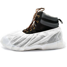 Heavy Duty Tear Resistant Re-Usable Overshoes / Shoe Covers / White - All Qties