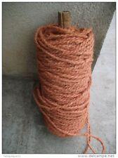 Reste de rouleau de corde en fibre de coco couleur rose orangé