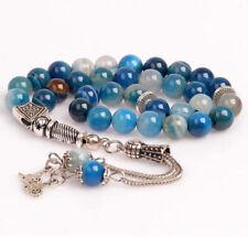 REAL Agate Stone Islamic Prayer 33 beads Tasbih Misbaha Rosary Tasbeeh 8mm