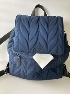 NWT Kate Spade Large Flap Quilted Navy Backpack Diaper Bag TAGS NOT ATTACHED