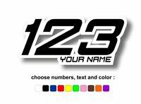 Numeri sticker adesivi adesivo personalizzati racing moto auto kart nome