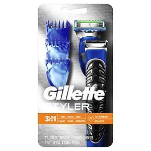 Gillette Fusion Proglide Shaver Styler Men Body Groomer Beard Trimmer 3 in 1 NEW
