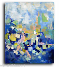 Blue ORIGINAL PAINTING Large Art Abstract Painting Modern Contemporary Painting