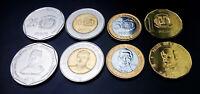 DOMINICAN REPUBLIC UNC SET OF 4 COINS 1 5 10 25 PESOS 2008 2015 KM 80 89 106 107