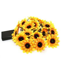 Sunflower String Lights Artificial Silk Flowers Holiday Home Decor 13 ft/20 LEDs