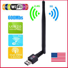 Internet Wireless USB WiFi Router Adapter Network LAN Card Dongle w/ Antenna US