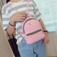 Women Girl Backpack Travel PU Leather Handbag Rucksack Shoulder School Bag EW