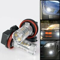 H11 6000K Diamond White LED Fog Light Bulbs BMW E90 E92 E60 E93