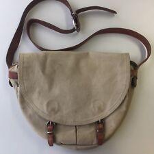 ca4bb96731 New ListingVtg J Crew Abingdon Brown Leather   Canvas Messenger Bag  Shoulder Bag Tan
