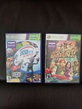 XBOX 360 KINECT GAMES, KINECT ADVENTURES AND GAME PARTY IN MOTION