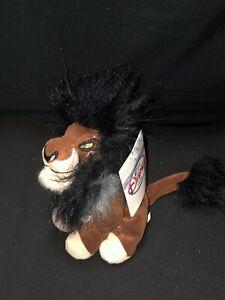 "VTG Rare Disney Store The Lion King Mini Bean Bag Uncle Scar Plush 8"" NWT"