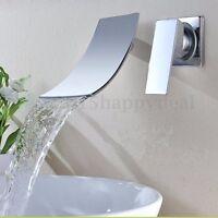 Bathroom Chrome Wall Mounted Waterfall Bathtub Basin Sink Mixer Tap Bath  s ☀ φ