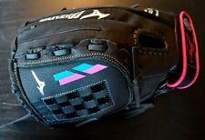 "NWT Mizuno Prospect Finch Fastpitch Mitt Glove 12"" Black LHT GPL1205F2 Ages 7-8"