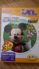 FISHER PRICE IXL SOFTWARE, DISNEY MICKEY MOUSE CLUBHOUSE 3-D WITH NEW GLASSES
