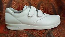 SAS Shoe Woman's 10 Me Too Free Time White Leather Adj Strap Close Work Nurse