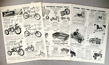 Bicycle, Pedal Car 5-Page CATALOG AD PAGE - 1957 ~ bike, pedal cars, hobby horse