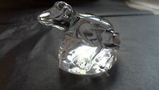 Crystal Glass Figurine Frog Original by Moser