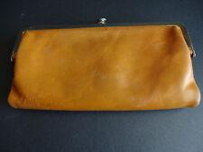 Womens Brown Leather Vestal Clutch Bifold Wallet ID WIndow Card Holder