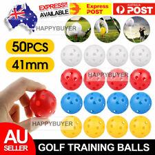 NEW 50x Plastic Whiffle Airflow Hollow Golf Practice Training Balls Golf Sport