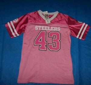 Size S (6/6X)  Girls Pittsburgh Steelers Jersey Troy Polamalu NFL Team Apparel