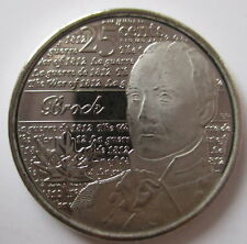 2012 CANADA 25¢ SIR ISAAC BROCK NON COLOURED BRILLIANT UNCIRCULATED QUARTER COIN
