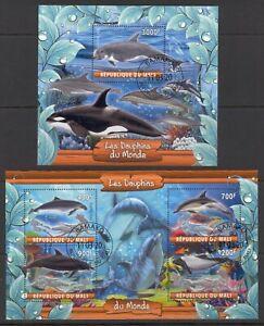 MALI 2020 LES DAUPHINS DOLPHINS MARINA SEA ANIMALS FAUNA MUMMALS MER STAMPS CTO