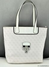 NWT Handbag GUESS Hewitt Totes White Multi Ladies