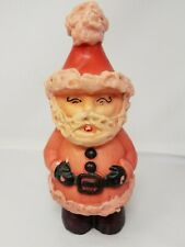 "Vintage Unused 10"" Christmas Standing Santa Claus Candle Decor"