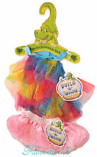 Build a Bear Dino Rainbow Tulle Halter Top Pink Ruffled Tutu Teddy Size Outfit