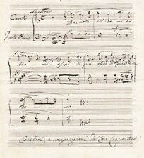 GIRALOMO CRESCENTINI Castrato and Composer autographed musical quotation SCARCE!