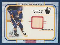 GILBERT PERREAULT 2002 FLEER HOCKEY KINGS 01-02 GAME USED STICK  22399