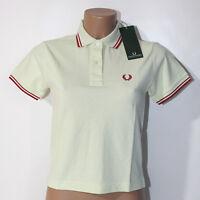 Polo Fred Perry verde  L XL manica corta maglia tshirt cotone donna t-shirt