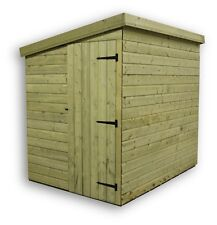 6x4 garden shed shiplap pent roof tanalised pressure treated door left end