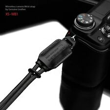 Gariz New Black leather Wrist strap XS-WB1 for m4/3 NEX XF Mirrorless camera