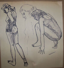 """""""SKETCHES """"by RUTH FREEMAN INK 14 3/4"""" X 16"""""""