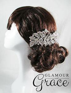 Vintage wedding silver bridal comb hair piece accessories headpiece tiara Eliza