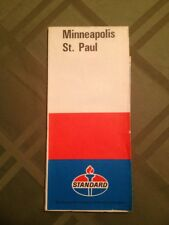 1971 Standard Oil Map Of Minneapolis & St. Paul Minnesota Gas Oil Petrol