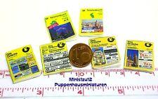 1401# Miniatur Telefonbücher 2 Stück - Puppenhaus - Puppenstube - M 1zu12