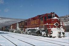 788057 Lehigh Valley EMD No 311 Leads Freight Lehighton Pennsylvania USA A4 Phot
