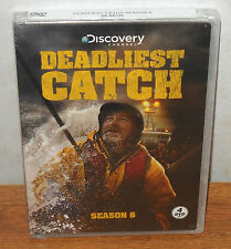 Deadliest Catch: Season 6 Six (DVD, 2010, 4-Disc Set) Discovery Channel - NEW!