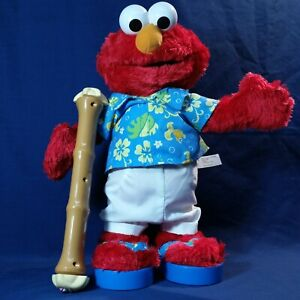 "2002 Fisher Price Sesame Street Limbo Elmo Singing & Dancing 14"" w/ Limbo stick"