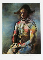 Pablo PICASSO Seated Harlequin Signed Giclee Art Print 20 x 13